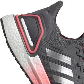 adidas Ultraboost 20 Shoes Women, grey five/silver metal/signal pink